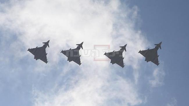 מטוסים המשתתפים בתרגיל הבינלאומי (צילום: שאול גולן, ynet)