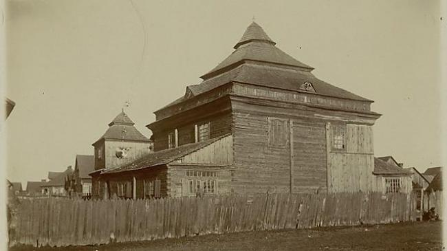 צידו האחרוי של בית הכנסת (צילום: ארכיון שמואל אברהם פוזננסקי, הספרייה הלאומית)