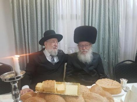 ליצמן עם הגאון רבי ישראל מאיר לאו