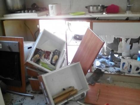 המטבח בו התרחש הפיצוץ (חדשות 24)