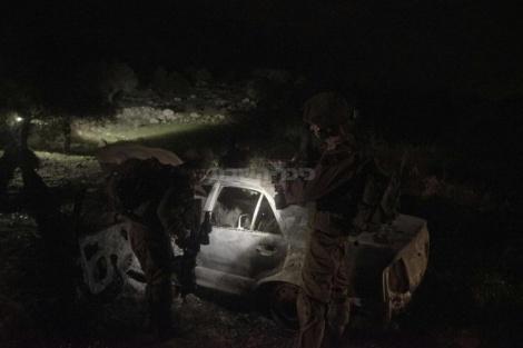 """הרכב ששימש את המחבלים (צילום: דובר צה""""ל)"""