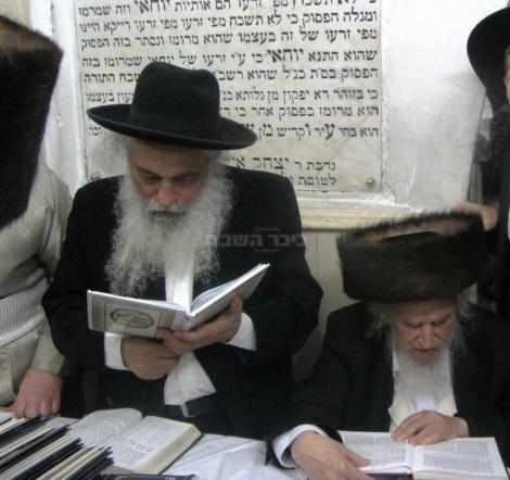 """הגרח""""ש ליבוביץ עם הגאון רבי שמואל אוירבך"""