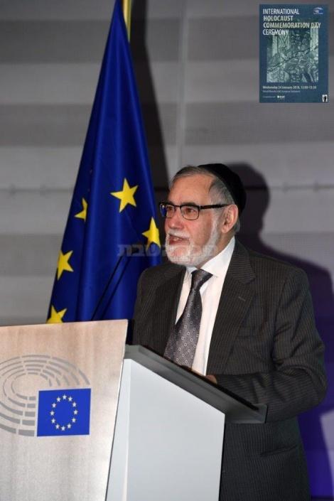 הרב גיגי בפרלמנט האירופי