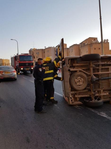 התאונה בצפת, הפצועים חרדים (צילום: דוברות המשטרה)