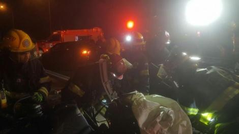 """זירת התאונה (צילום: כב""""ה)"""