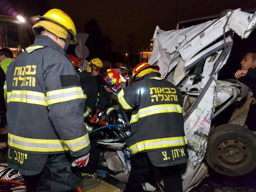 זירת התאונה (צילום: דוברות כב''ה ירושלים)