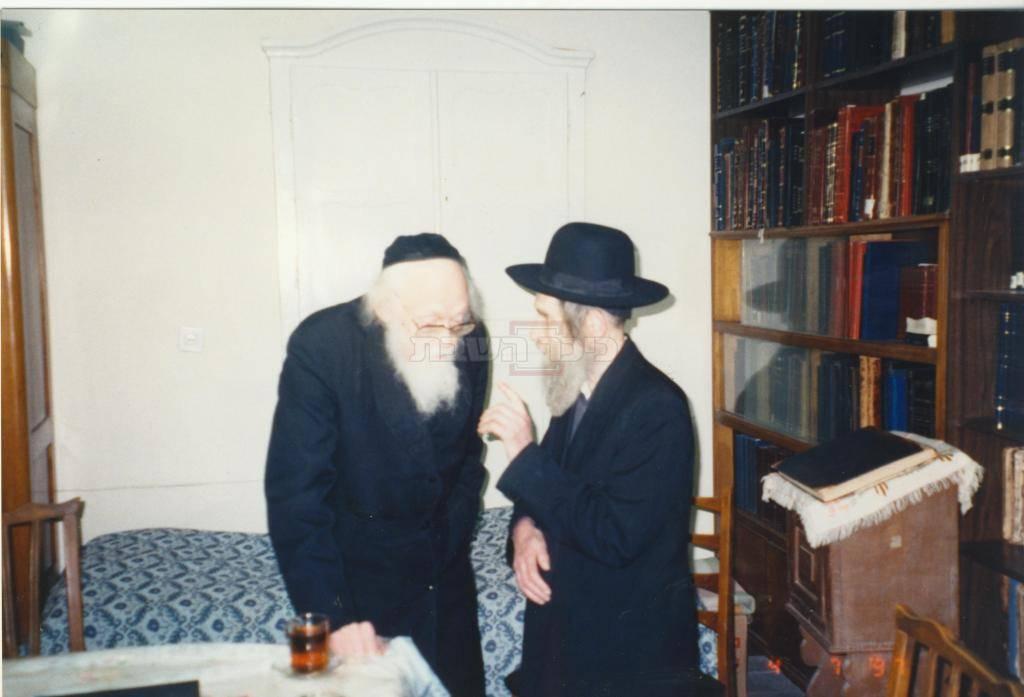 מרן הרב שטיינמן עם מרן הרב אלישיב זצ''ל