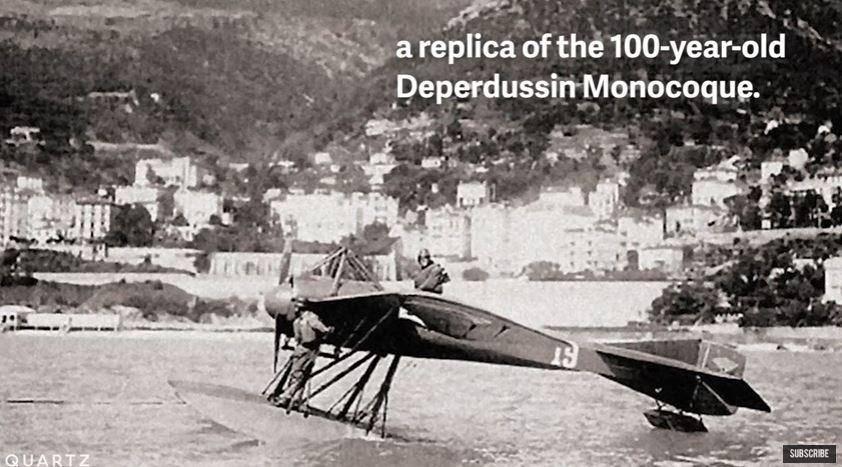 היעד הבא: Deperdussin Monocoque  (צילום מסך מתוך: Quartz/יוטיוב)