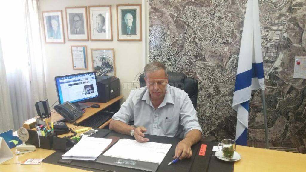 כפסו בלשכת ראש העיר (צילום: באדיבות המצלם)