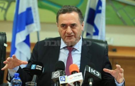 שר התחבורה ישראל כץ במסיבת העיתונאים (צילום: אוראל כהן, ynet)