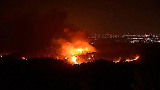 הדליקה בהרי ירושלים (צילום: מיקי טוטנאור, ynet)