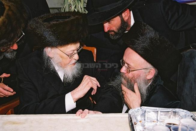 """הרב יוסף אפרתי עם מרן הגרי''ש אלישיב זצ""""ל"""