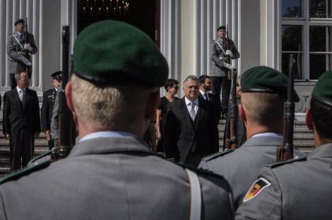 משמר הכבוד (צילום: שגרירות ישראל ברלין /בועז ארד.)