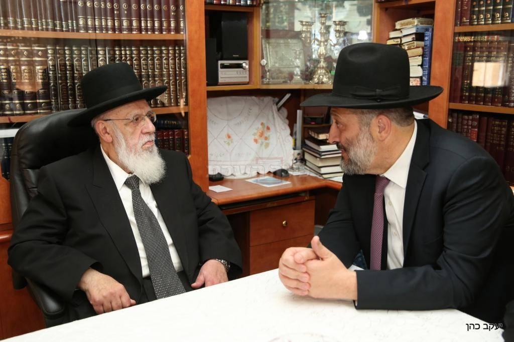 דרעי עם נשיא המועצת, היום (צילום: יעקב כהן)