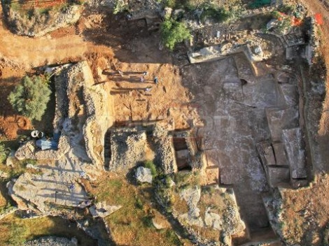 המחצבה ברמת שלמה, מבט מן האוויר. צילום: skyview באדיבות רשות העתיקות