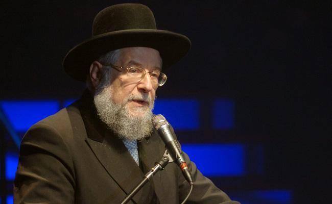 הרב ישראל מאיר לאו (צילום: עמוד בן גרשום / לע''מ)