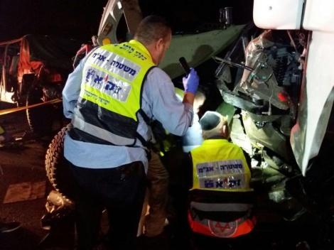 זירת התאונה (צילום: נטע שפריי)