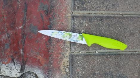 הסכין בה עשתה שימוש המחבלת