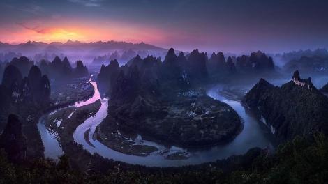 זריחה בסין. הצילום הזוכה (צילום: Jesus M. Garcia)