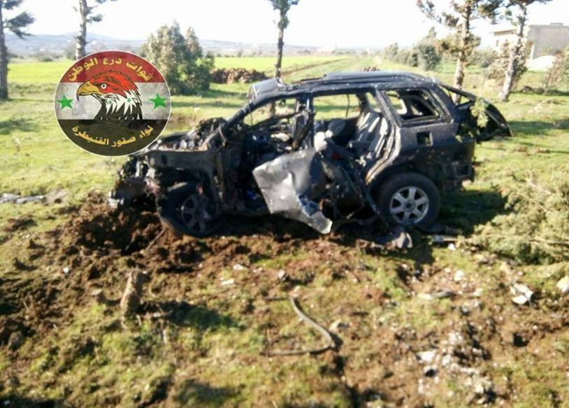 הרכב שנפגע בתקיפה (צילום: מתוך טוויטר)