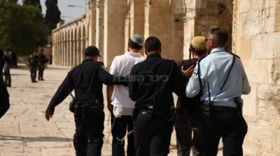 מעצר יהודים בחשד להשתחוויה ותפילה (צילום: יוסף מזרחי/TPS)