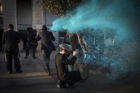 Yonatan Sindel/Flash90 - מפגיני 'הפלג' ניסו לחסום את מרכז ירושלים