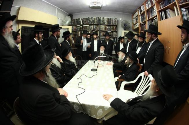 """כינוס ועד הישיבות בבית הגראי""""ל. צילום: יהודה פרקוביץ'"""