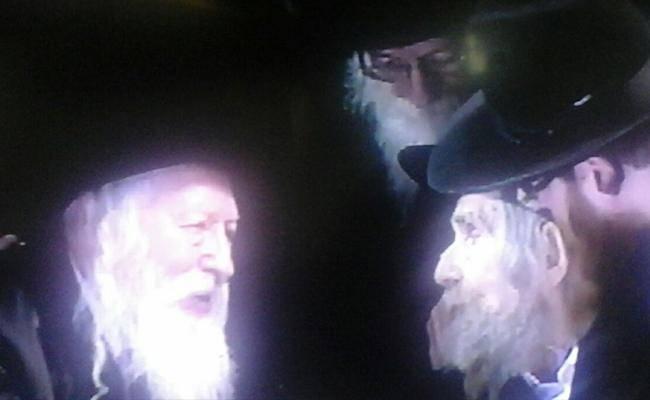 מרן הרב שטיינמן והרבי מגור, הערב (רפרודוקציה)