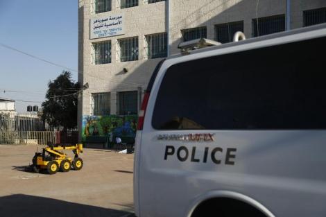 הרובוט המשטרתי (צילום: דוברות המשטרה)