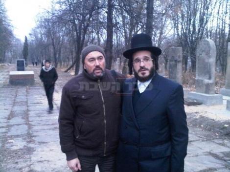 הנגיד ר' יואל קסטנבוים עם מר גרירגורי יסיקוביץ