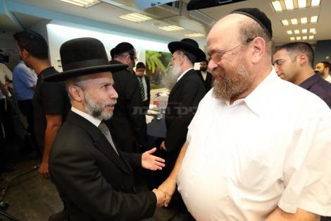 יצחק נחשוני עם הרב זמיר כהן