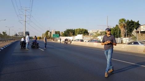 מחאת הנכים הבוקר (צילום: דוברות המשטרה)