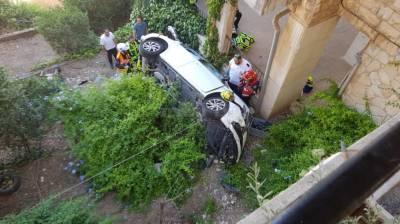 הרכב ההפוך (צילום: דוברות המשטרה)