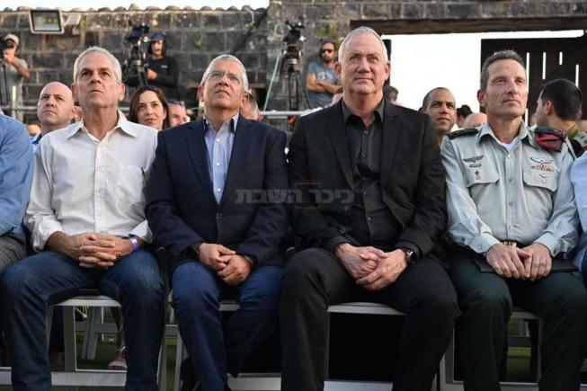 גנץ בטקס הענקת תעודות המערכה ברצועת הביטחון בלבנון