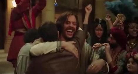"""מתוך סצנת הריקודים בסרט """"בן חור"""" (צילומסך)"""