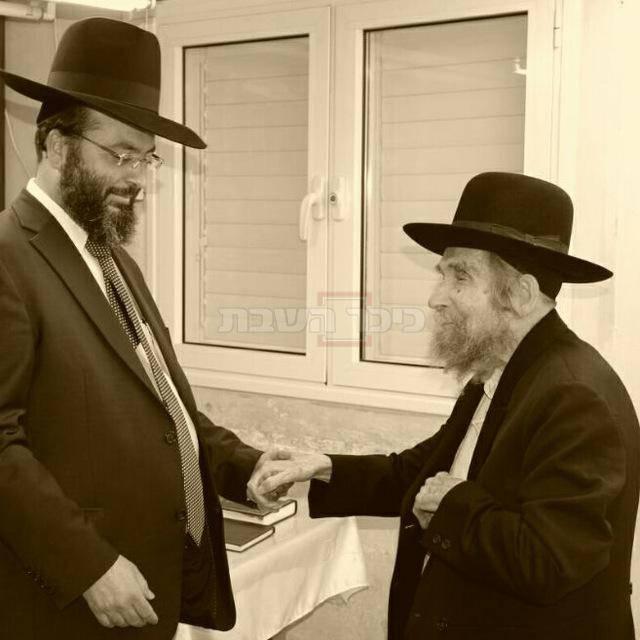 הרב רוזנשטיין עם מרן הרב שטיינמן