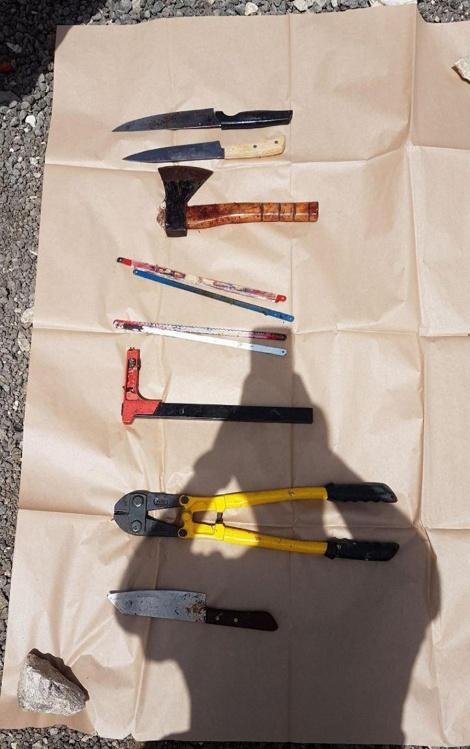 כלי הרצח (צילום: דוברות המשטרה)