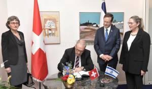 ישראל ושוויץ: שני הנשיאים נפגשו בירושלים