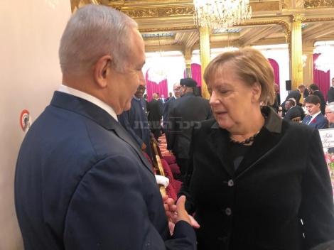 נתניהו עם רנצלרית גרמניה מרקל, היום