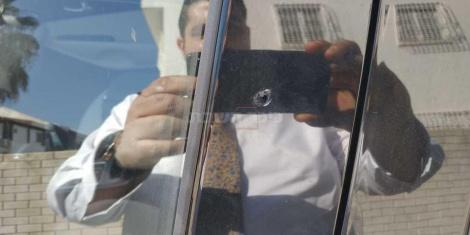 הפגיעות ברכב (באדיבות המצלם)