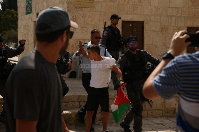 מעצר הנער הערבי (צילום: יוסף מזרחי/TPS)