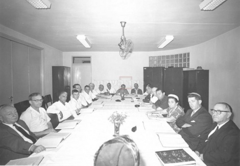 1/7/1965שעור בגמרא בכנסת בסיום הכנסת החמישית