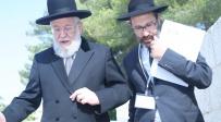 """הרב ישראל מאיר לאו. כנס יד ושם.  - """"בעוד כמה שנים ניוותר ללא עדות חיה מהתופת הנאצית"""""""