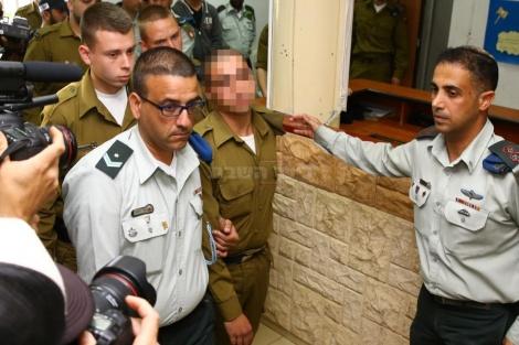 החייל, הצהריים בבית הדין הצבאי (צילום: פלאש 90)