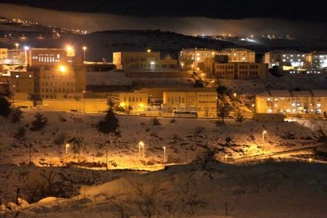 השלג בביתר (צילום: רוזמרין)