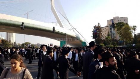 ההפגנה בכניסה לירושלים