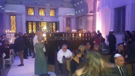לוקיישן יהודי: החתונה נערכה בבית כנסת (באדיבות המצלם)