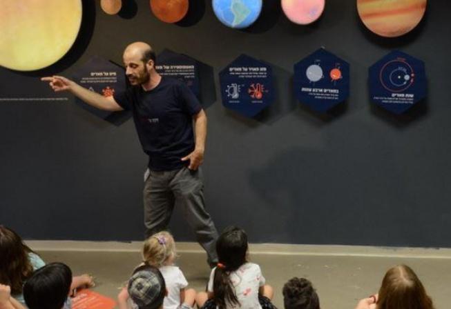 הדרכת ילדים. צילום איתי בלסון, מכון ויצמן למדע