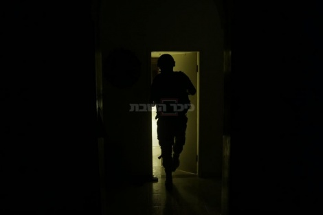 """המבצע למעצר פעילי חמאס (צילום: דובר צה""""ל)"""