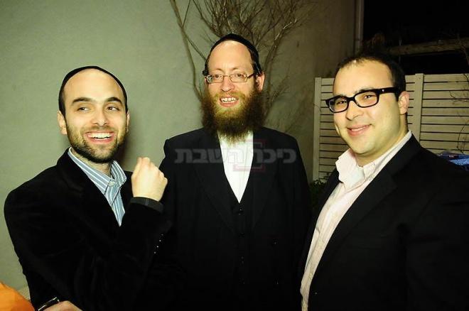 מימין: אלי הלמן, קובי איזק, מני גרה שוורץ
